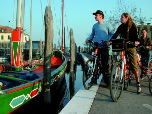 Barge and Bike In Italy
