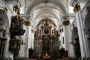Cathedral in Linz along the Danube River